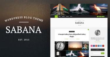 قالب وردپرس مجله ای و وبلاگ Sabana