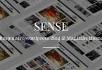 دانلود پوسته قالب مجله ای Sense وردپرس قالب مجله وبلاگ خبری وردپرس حس
