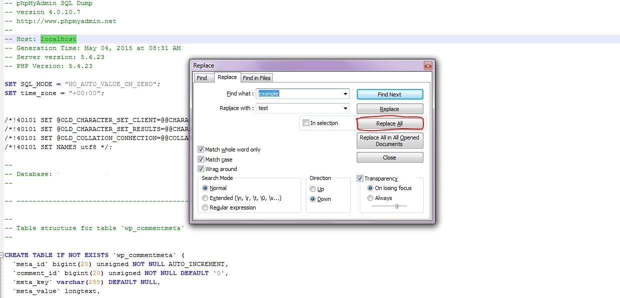 نسخه پشتیبان بکاپ دیتابیس وردپرس